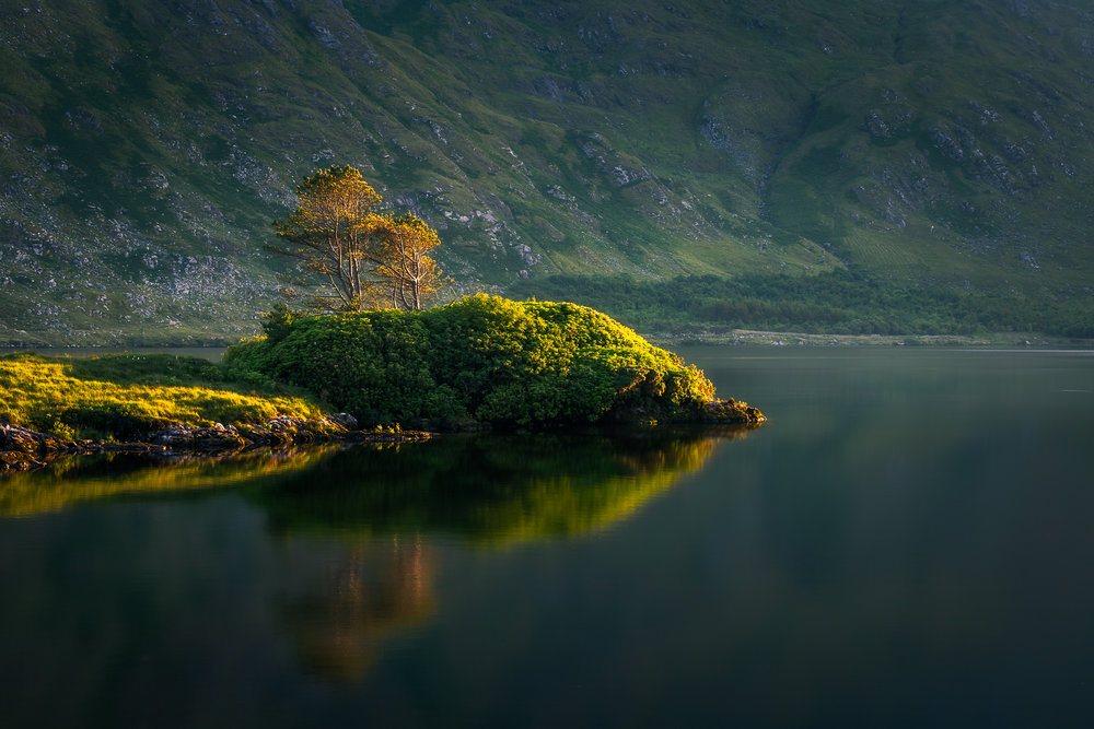Evening Reflections on Lough Fee