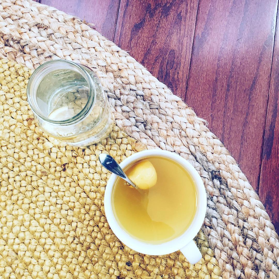 HYDRATE. On the mend, sipping on #tea. Lemon, honey, turmeric, cayenne