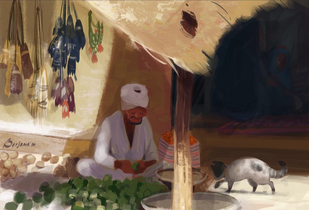 07-19-16 speedpaint egyptian seller with cat.jpg