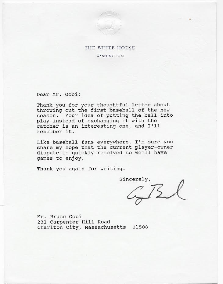 Bush george hw american historical guild a one page typed letter signed by george bush as president on white house letterhead undated c january march 1990 thank you for your thoughtful expocarfo Choice Image
