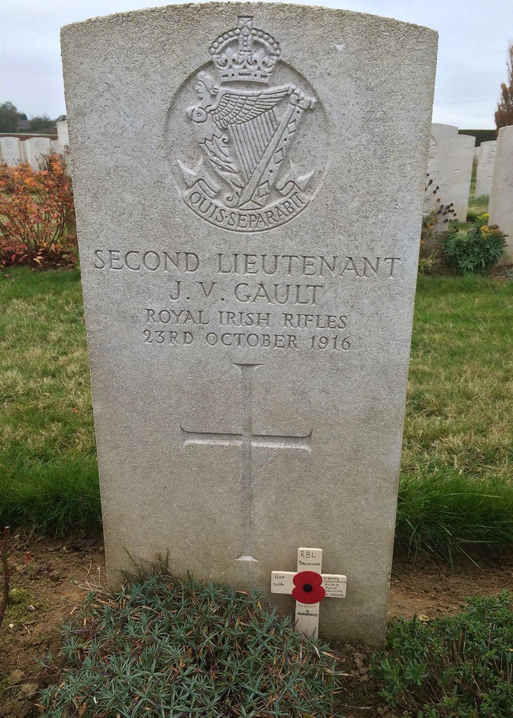 CWGC Memorial in Bancourt British Cemetery, Pas de Calais, France