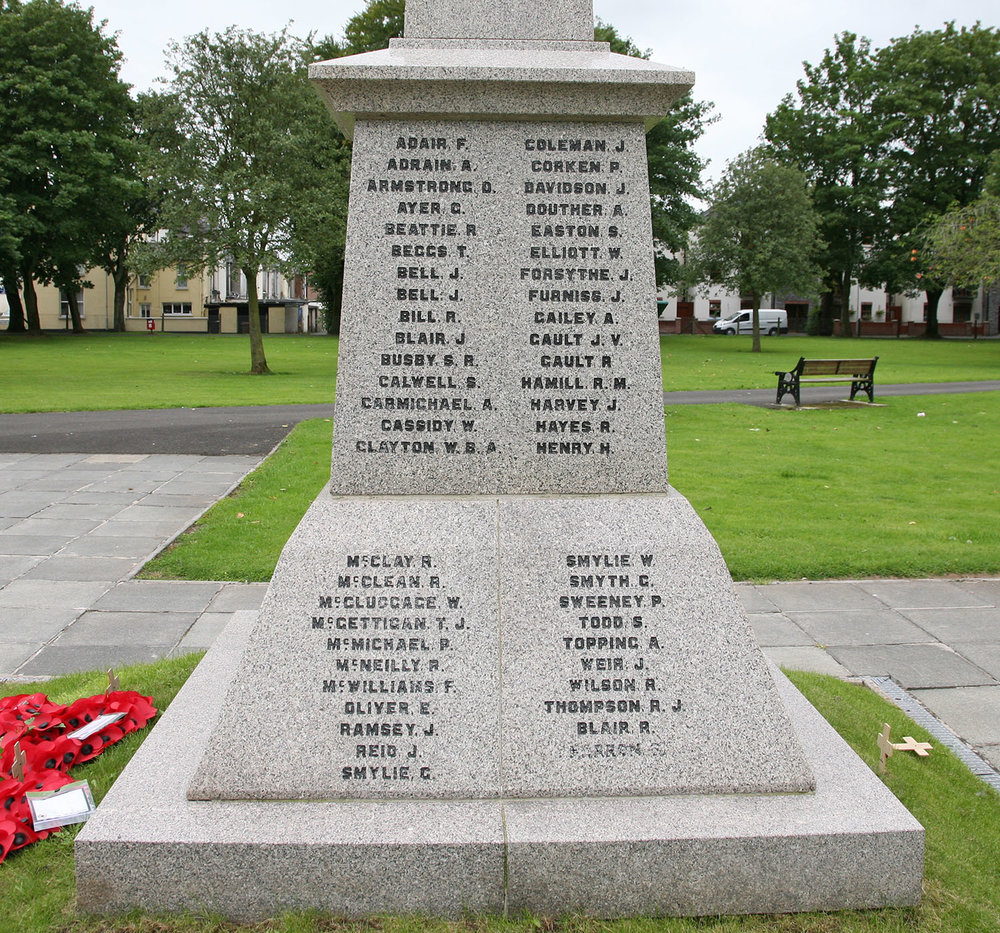 Ballyclare War Memorial - Ea  st Face