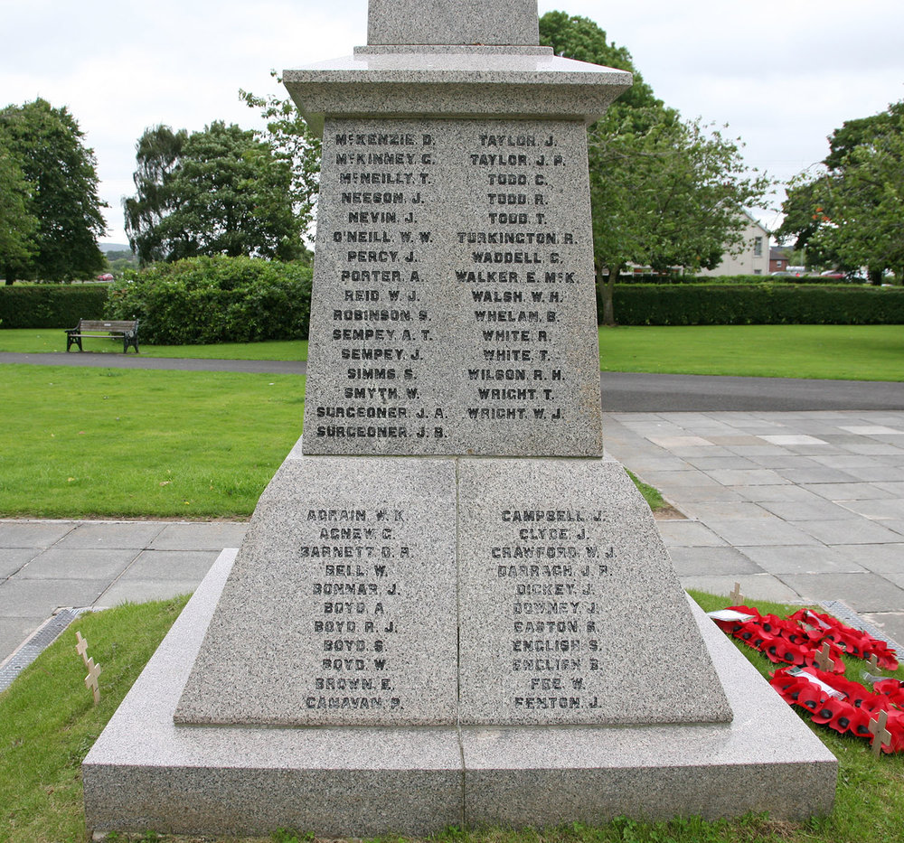 Ballyclare War Memorial - West Face