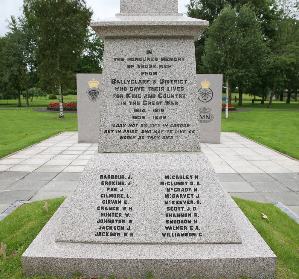 Ballyclare War Memorial - South Face