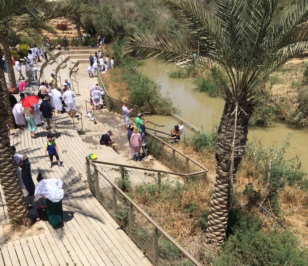 Pilgrims at the River Jordan