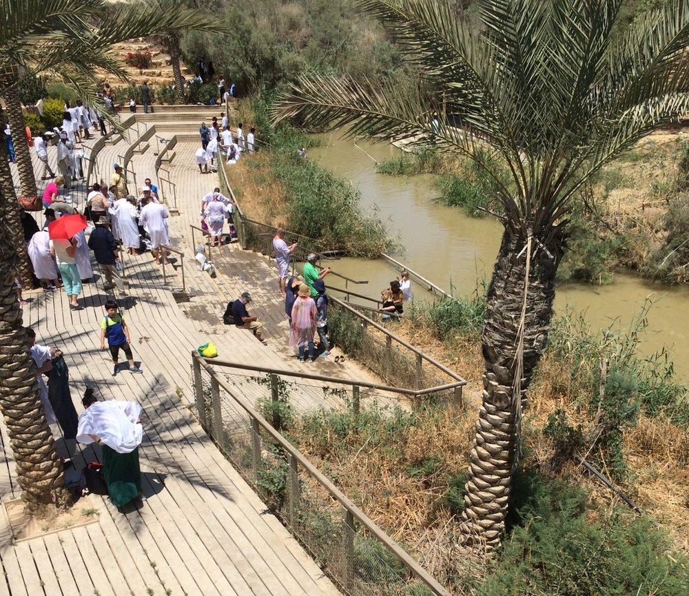 Pilgrims at the River Jordan