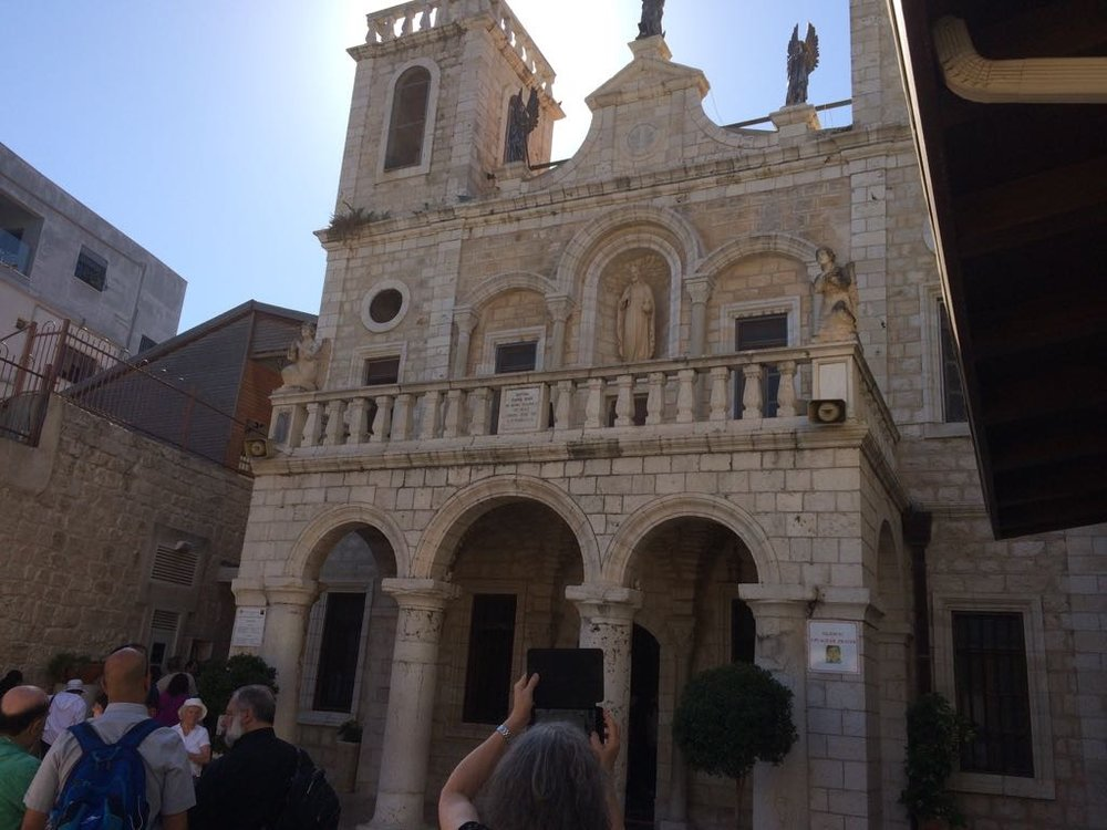Church built over the place where Jesus turned the water into wine at the wedding