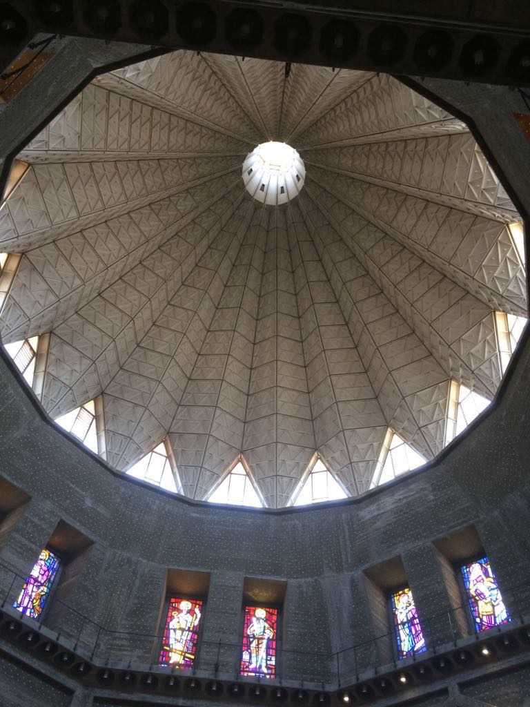 View of the inside of the roof