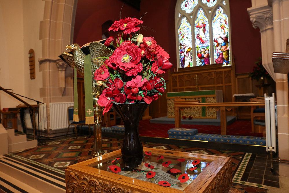 Remembrance Sunday Floral Arrangement