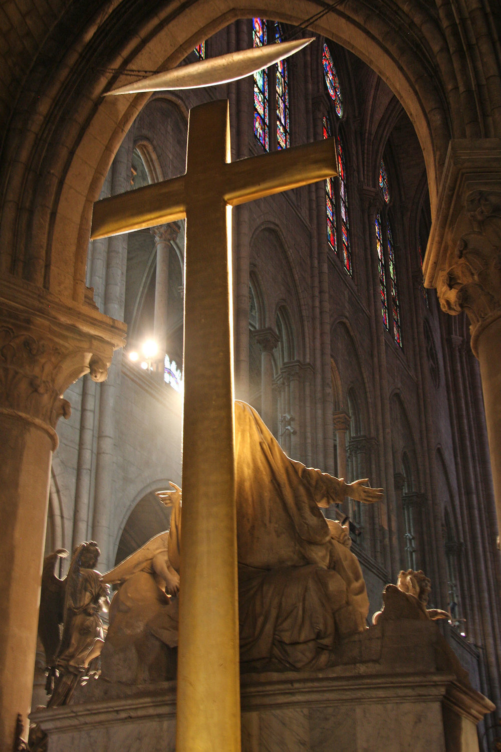 The altar cross in Notre Dame cathedral, Paris