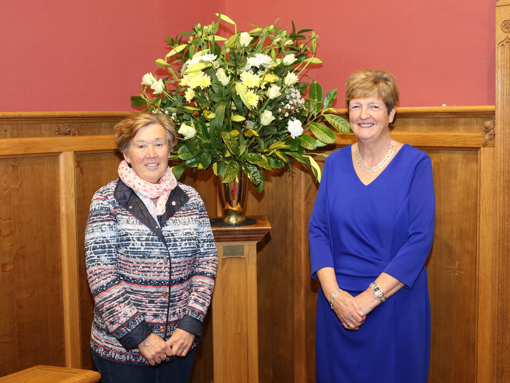 Church Floral Arrangers - Iris Maughan and Irene Paget