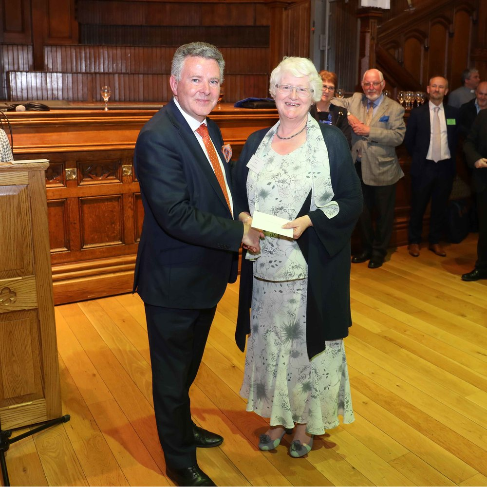 Jacqueline Weir from St Matthew's Parish Church, Shankill received the runner's up prize for Innovative use of Social Media