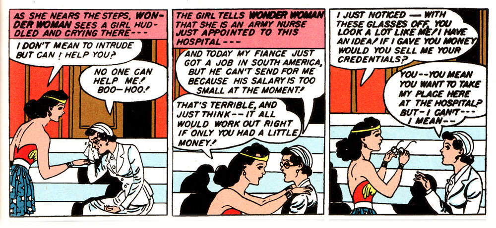 Wonder Woman: benevolent identity thief.
