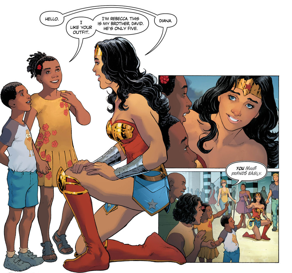 Rucka and Scott's Wonder Woman is notably open to making friends.