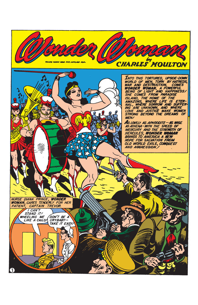Another classic Peters splash, and an encapsulation of Wonder Woman's approach to Nazi-curbing.