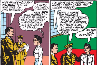 Brown military dress uniforms sort of make everyone look like Nazis.