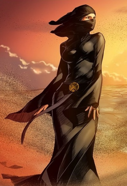 "We argue that a bad artist can make even the most ""modest"" garment appear sexy, if they only know how to draw sexy women. Marvel's Dust is a good example."