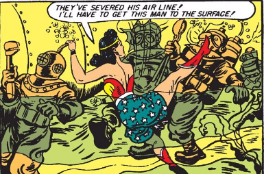 Note the aesthetics of a Good Diver and an Evil Nazi Diver.