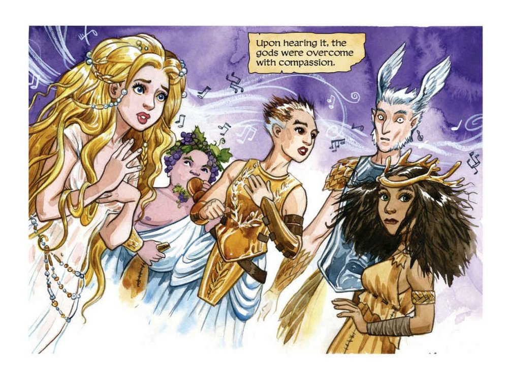 We're into her designs for the gods and goddesses of Olympus.