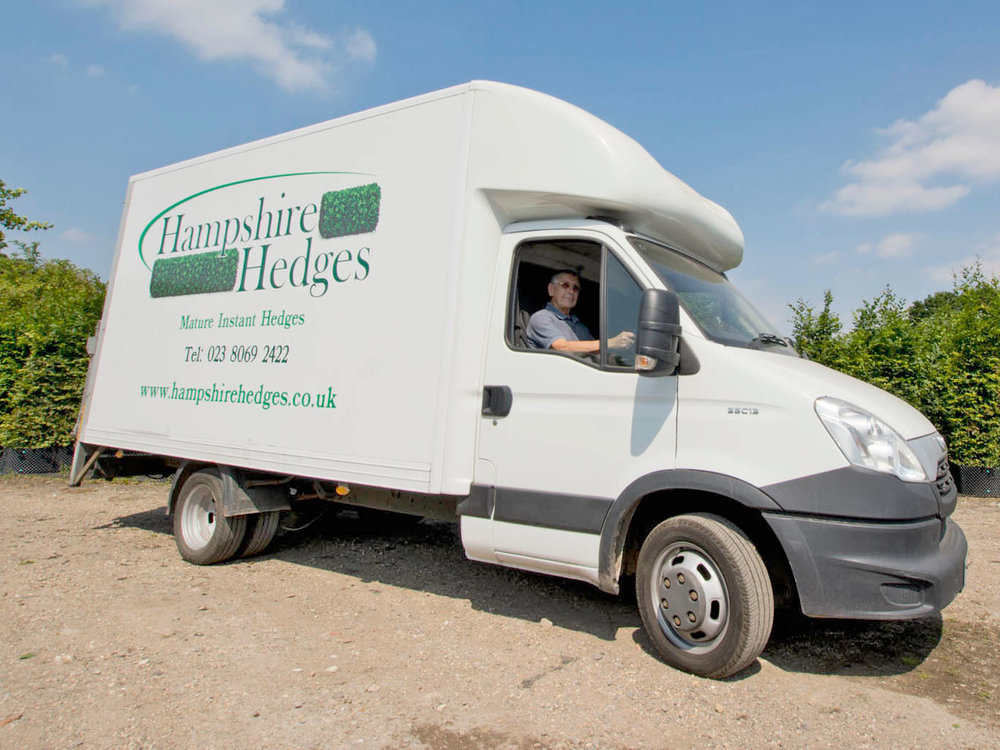 Hampshire Hedges delivery van