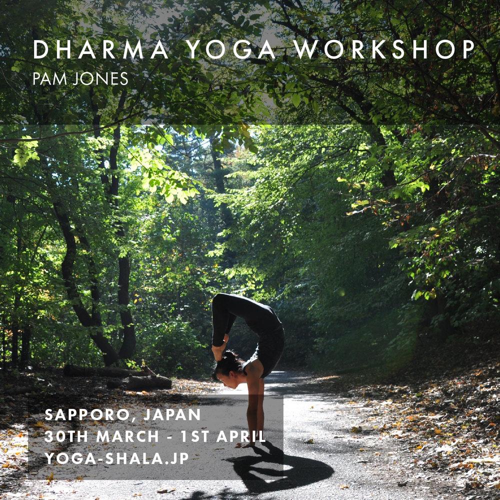 Fri 30th Mar - Sun 1st Apr 2018 Sapporo, Japan    Yoga Shala Sapporo