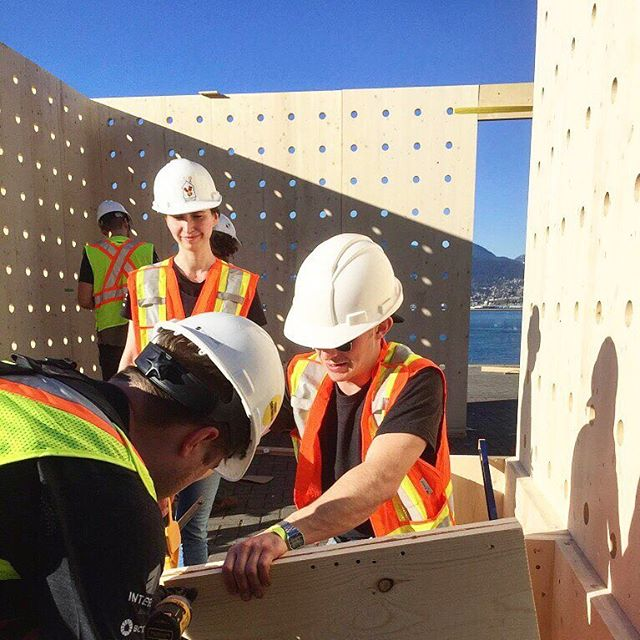 Thank you to all of our volunteers! The DBR crew was on site all weekend for the installation, and we are excited for the reveal of PAUSE at TED2017 today.  #DBR #DesignBuildResearch #DesignBuild #DBRschool #PAUSE #DBRPAUSE #yvr #yvrdesign #vanarch #vancouver #vandesign #TED #TED2017