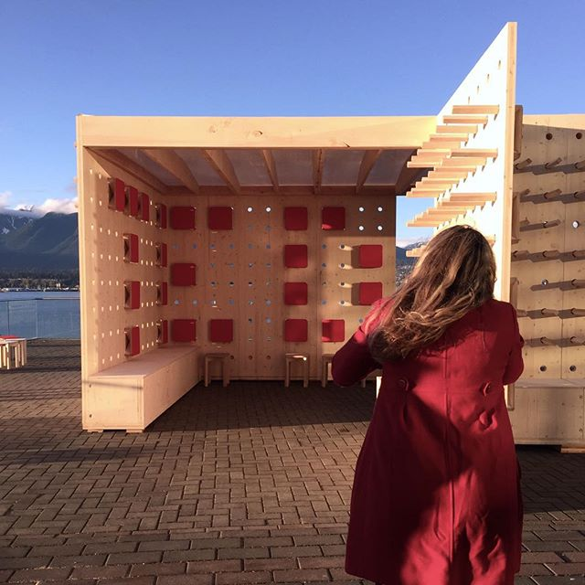 A behind the scenes shot of @emaphotographi on site last night photographing for PAUSE. We are so thankful to have this incredible woman involved in our projects. Stay tuned to see the final shots.  #DBR#DesignBuildResearch #DesignBuild#DBRschool #PAUSE #DBRPAUSE #yvr#yvrdesign #vanarch #vancouver#vandesign #TED #TED2017