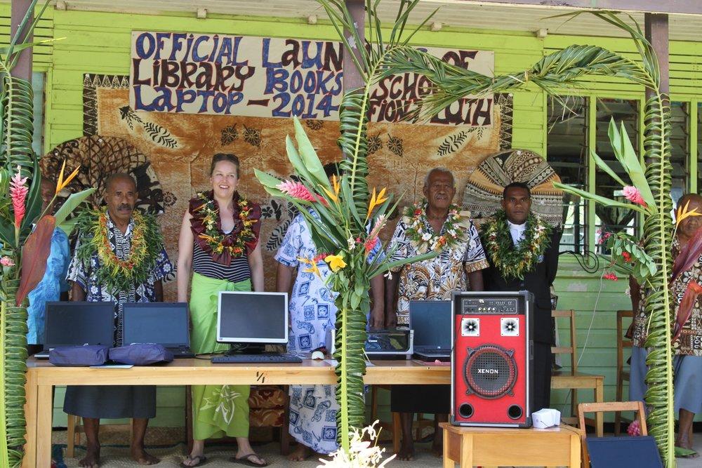 Official launch of the library at Vunisei District School, Kadavu.