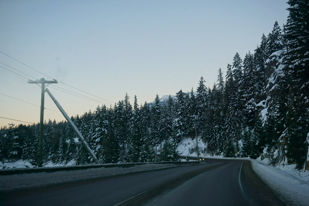 Peace can be found on empty highways, at sunrise, just before the lifts start turning before the day.