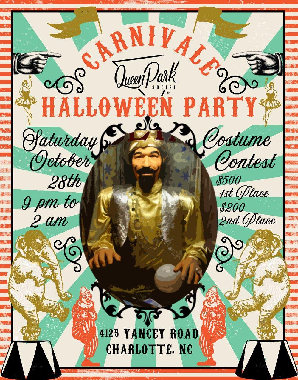 Queen Park Social Halloween Party