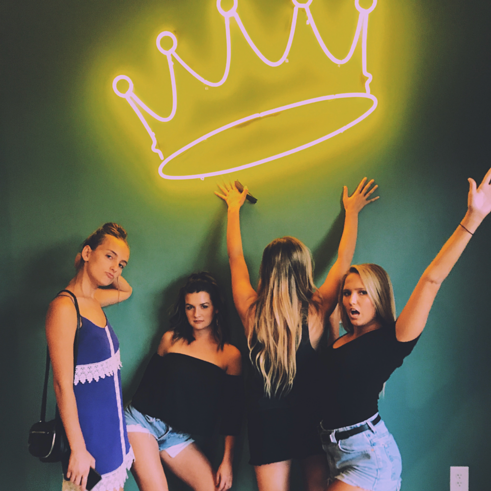 #1 - Take a pic under our neon crown