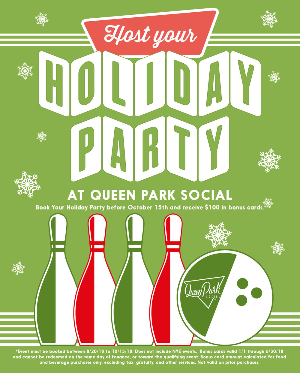HOST YOUR HOLIDAY PARTY