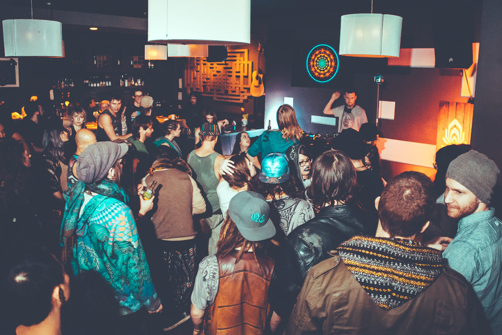 Temple - Hosted at Koi: A small cafe/bar supporting live music, visual art, and ethical Asian-fusion cuisine - Temple is encompassed in one word: Freedom.Inspired by a Vancouver based food-drive and originally based on a