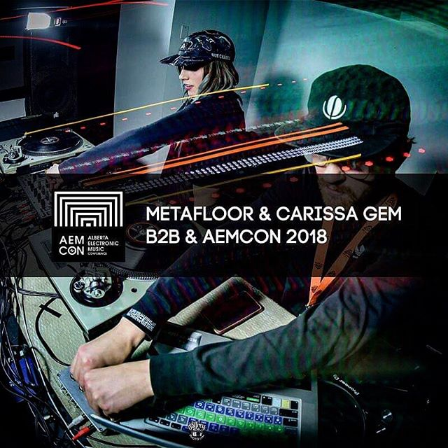 @metafloor & @carissa_gem just posted their b2b set from The @albertaelectronicmusic Conference - go cop that download, link in bio 🔥