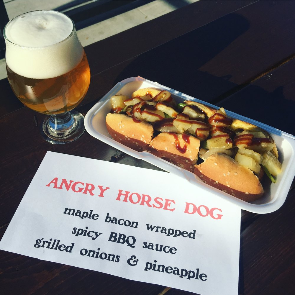 The Angry Horse Dog & Piggy Back pale ale.