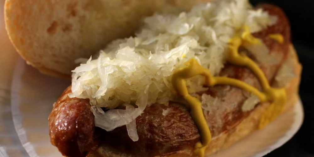 German brats with sauerkraut