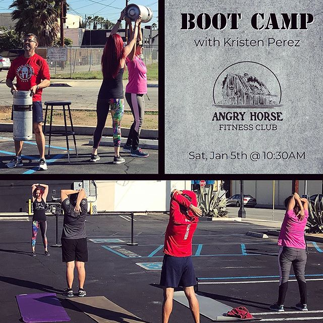 Join us this Saturday @ 10:30am for another round of our Boot Camp class with Kristen (@thequeen637) at Angry Horse Brewing. She will be focusing on exercise and techniques you can do anywhere. All fitness levels and ages are welcome. The boot camp is free but sign up by sending us a message. Bring your sneakers, a water bottle and a towel if you need. If you have a mat feel free to bring that as well #ahbfitnessclub