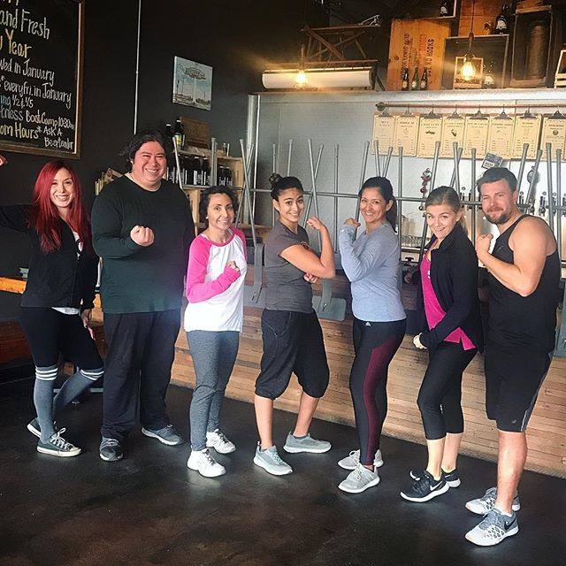 Another fun boot camp class in the books! It may be cold in LA today but Kristen had us warmed up and sweating. Catch the next boot camp class on Sunday 1/20 @ 10:30am. #ahbfitnessclub
