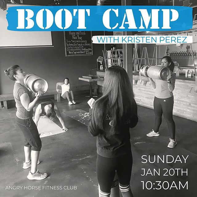 Join us this Sunday @ 10:30am for another round of our Boot Camp class with Kristen (@thequeen637 ) at Angry Horse Brewing. She will be focusing on exercise and techniques you can do anywhere. All fitness levels and ages are welcome. The boot camp is free but sign up by sending us a message. Bring your sneakers, a water bottle and a towel if you need. If you have a mat feel free to bring that as well #ahbfitnessclub
