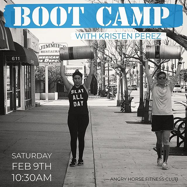 Join us this Saturday @ 10:30am for another round of our Boot Camp class with Kristen (@thequeen637 ) at Angry Horse Brewing. She will be focusing on exercise and techniques you can do anywhere. All fitness levels and ages are welcome. The boot camp is free but sign up by sending us a message. Bring your sneakers, a water bottle and a towel if you need. If you have a mat feel free to bring that as well #ahbfitnessclub
