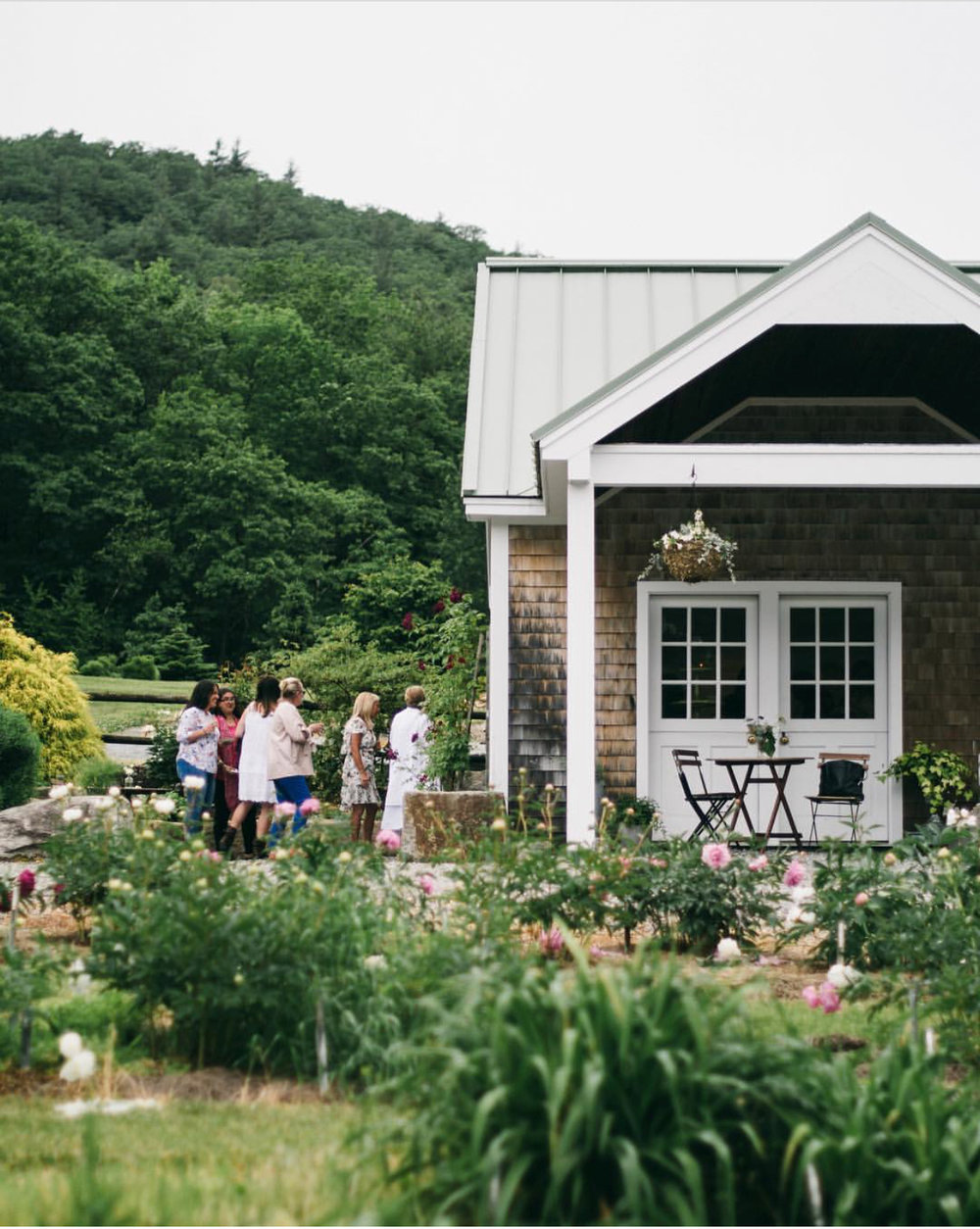 Charming country cottage for bridal showers up to 40 guests and tented weddings up to 150 guests.  20 minutes from Manchester, NH.