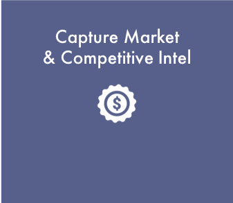 Harvest game-changing market and competitive insights. Fine tune your competitive differentiation and the recipe for winning against key competitors.