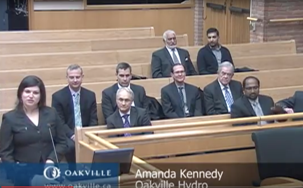 Presenting to Town Council, 2015