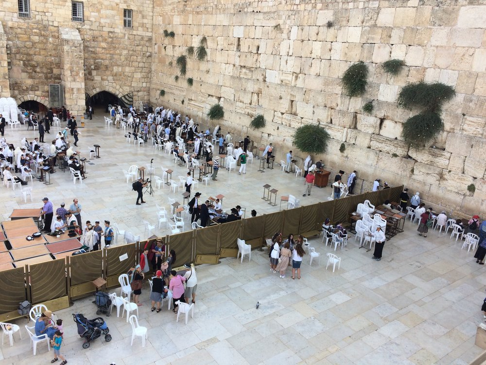 Our visit to the Wailing Wall of Solomon's Temple