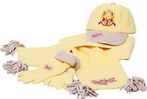 Fast and Fabulous Hat, Glove, and Scarf Set (Yellow)