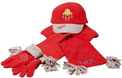 Fast and Fabulous Hat, Glove, and Scarf Set (Red)