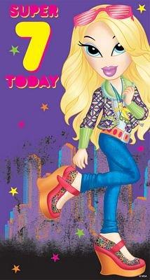 "Electric Wonder City ""Super 7 Today"" Birthday Card"