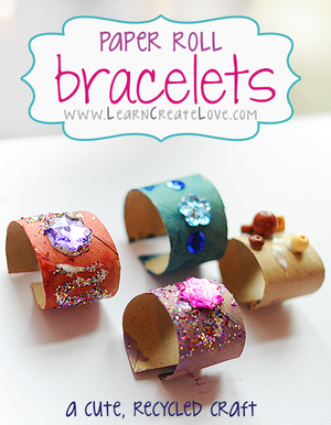 Toilet paper roll bracelet (Craft from July 14 2018)