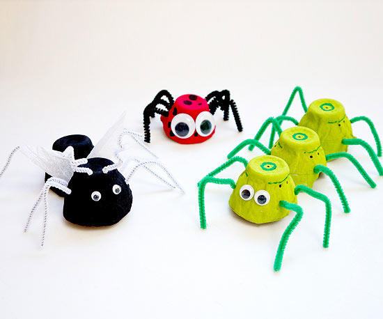 Egg Carton Bugs (Craft from August 25 2018)