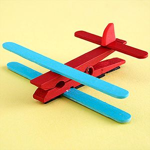 Clothes pin Plane (Craft from September 1 2018)